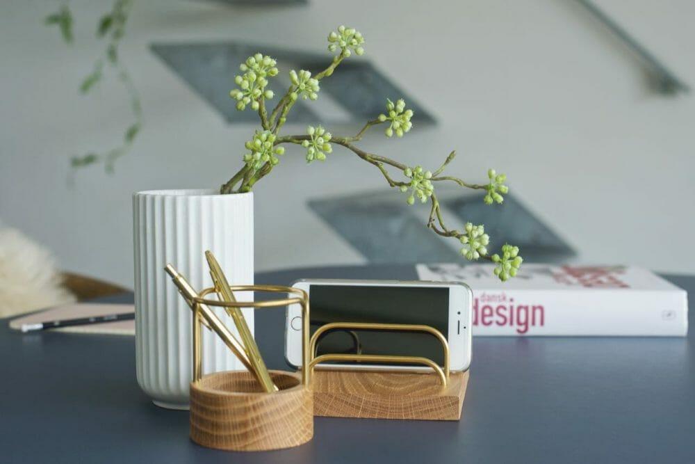 Rangement pour bureau en bois design scandinave