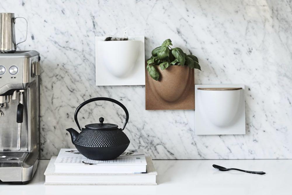 Rangement mural cuisine, vase mural design vide poche mural, Verti Copenhagen
