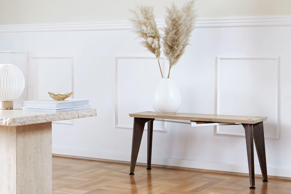 Banc design scandinave en bois massif - Roon & Rahn